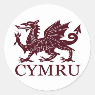 Wales CYMRU Round Sticker