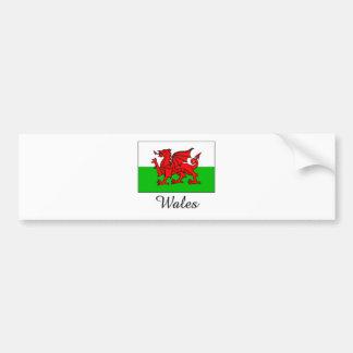 Wales Flag Design Bumper Sticker