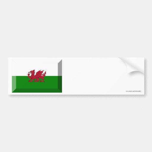 Wales Flag Jewel Bumper Sticker