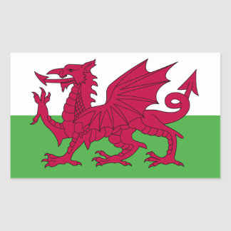 Wales Flag Rectangular Sticker