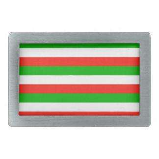 wales flag stripes belt buckle