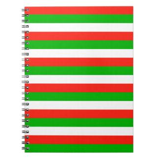 wales flag stripes notebook