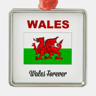 Wales Forever Metal Ornament