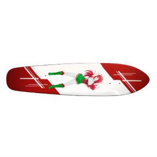 Wales Manga girl dressed in Flag - Welsh 21.3 Cm Mini Skateboard Deck