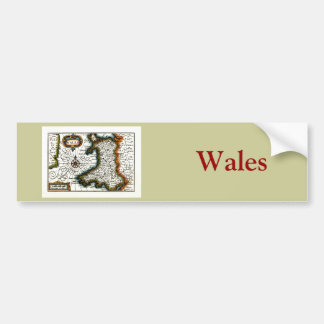 Wales Map and or Flag Bumper Sticker