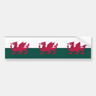 Wales Map and/or Flag Car Bumper Sticker