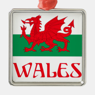 Wales Metal Ornament