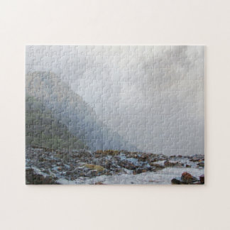 Wales Snowdon Welsh Landscape Mist Stream Souvenir Jigsaw Puzzle