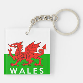 wales united kingdom country flag text name welsh key ring