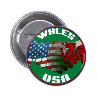 Wales USA Handshake Button