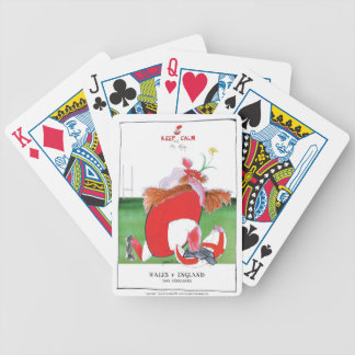 wales v england balls - from tony fernandes bicycle playing cards