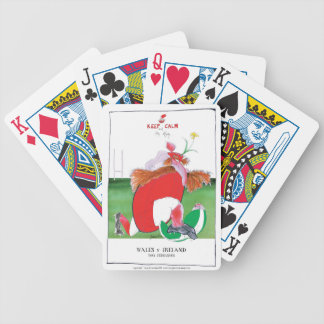 wales v ireland rugby balls by tony fernandes bicycle playing cards