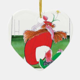wales v ireland rugby balls by tony fernandes ceramic heart decoration