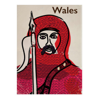 Wales vintage travel poster