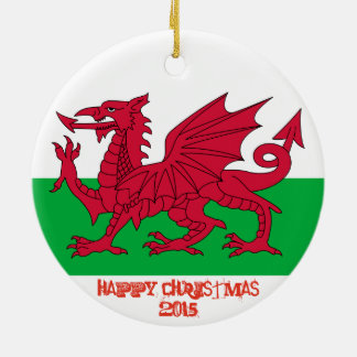 Wales Welch Dragon Flag Christmas Ornament
