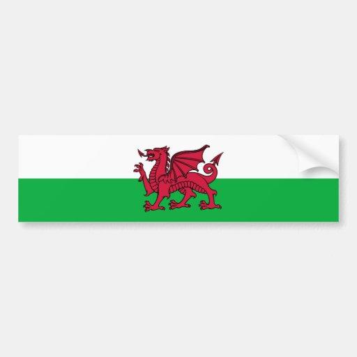 Wales -Welsh Flag Bumper Sticker