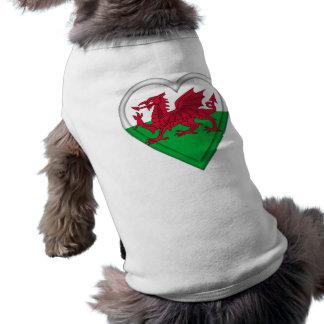 Wales Welsh flag cymru dragon Sleeveless Dog Shirt