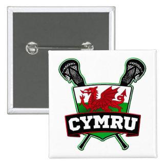 Wales Welsh Flag Lacrosse Badge
