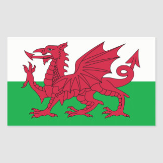 Wales/Welsh Flag - United Kingdom Rectangular Sticker