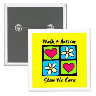 Walk 4 Autism square badge
