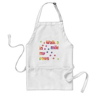Walk a mile (feline) aprons