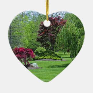 Walk a Wicked Waltz Ceramic Heart Decoration
