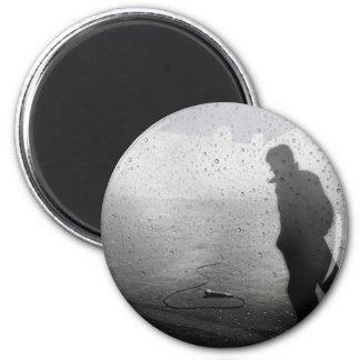 Walk Away in Silence 6 Cm Round Magnet