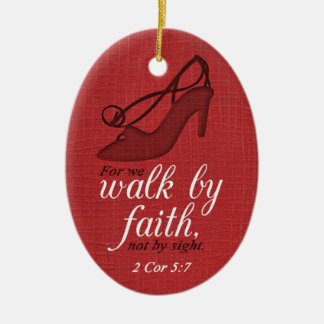Walk By Faith 2 Corinthians 5:7 Bible Verse Quote Ceramic Oval Decoration