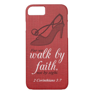 Walk By Faith 2 Corinthians 5:7 Bible Verse Quote iPhone 8/7 Case