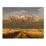 Walk by Faith Bible Verse Scripture Postcard