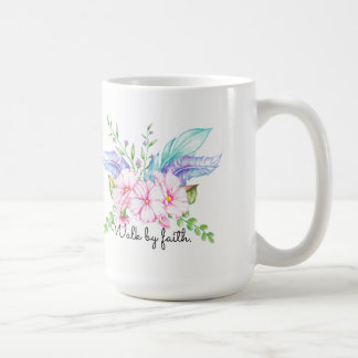Walk By Faith Boho Flower Mug