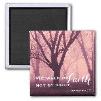 Walk by Faith Religious Magnet