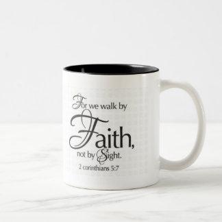 Walk by Faith Two-Tone Coffee Mug