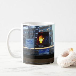 Walk, don't walk (righty) coffee mug