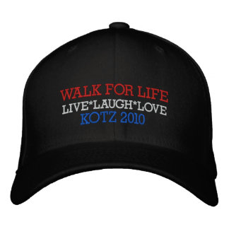 WALK FOR LIFE, LIVE*LAUGH*LOVE, KOTZ 2010 EMBROIDERED BASEBALL CAPS