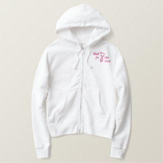 Walk For The Cure Embroidered Hoodie