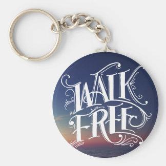 """Walk Free"" Keychain"
