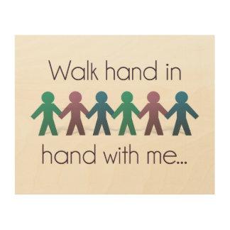"""Walk Hand in Hand 10"""" x 8"""" Wall Art - Wood Wood Canvas"""