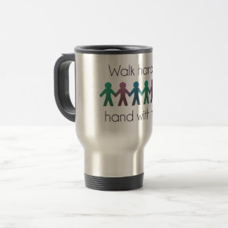 Walk Hand in Hand 15 oz Stainless Steel Travel Mug