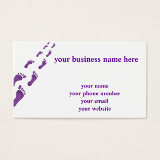 walk in my foot steps business card
