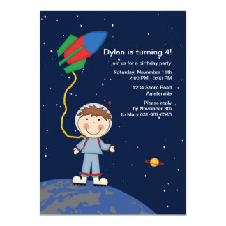 Walk in Space Birthday Party Invitation