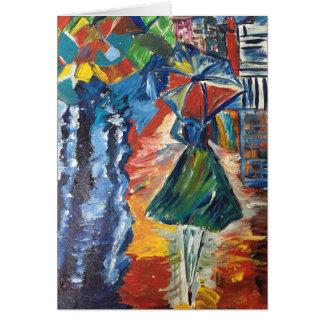 Walk in the Rain Card