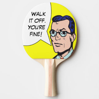 Walk It Off Comic Book Ping Pong Paddle