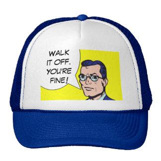 Walk It Off Comic Book Trucker Hat