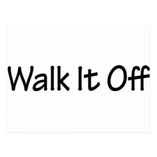 Walk It Off Postcard