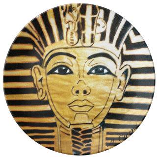 """""""Walk Like An Egyptian"""" Porcelain Plate"""