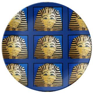 """""""Walk Like An Egyptian"""" Porcelain Plates"""
