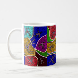 Walk Of The Huntsman Spider Dot Art, Coffee Mug