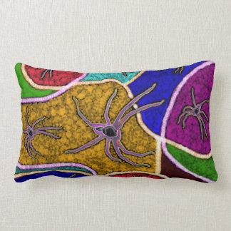 Walk Of The Huntsman Spider Dot Art, Lumbar Cushion