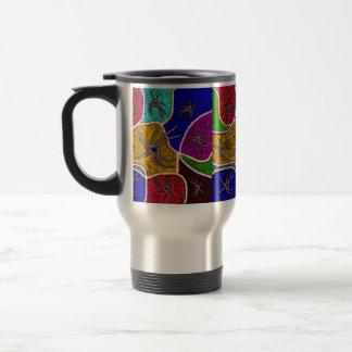 Walk Of The Huntsman Spider Dot Art, Travel Mug